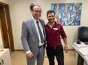 Fabrício do Riachinho, o Presidente da Câmara de Monte Azul - MG, se reúne com o Deputado Estadual Gil Pereira para tratarem de demandas da região